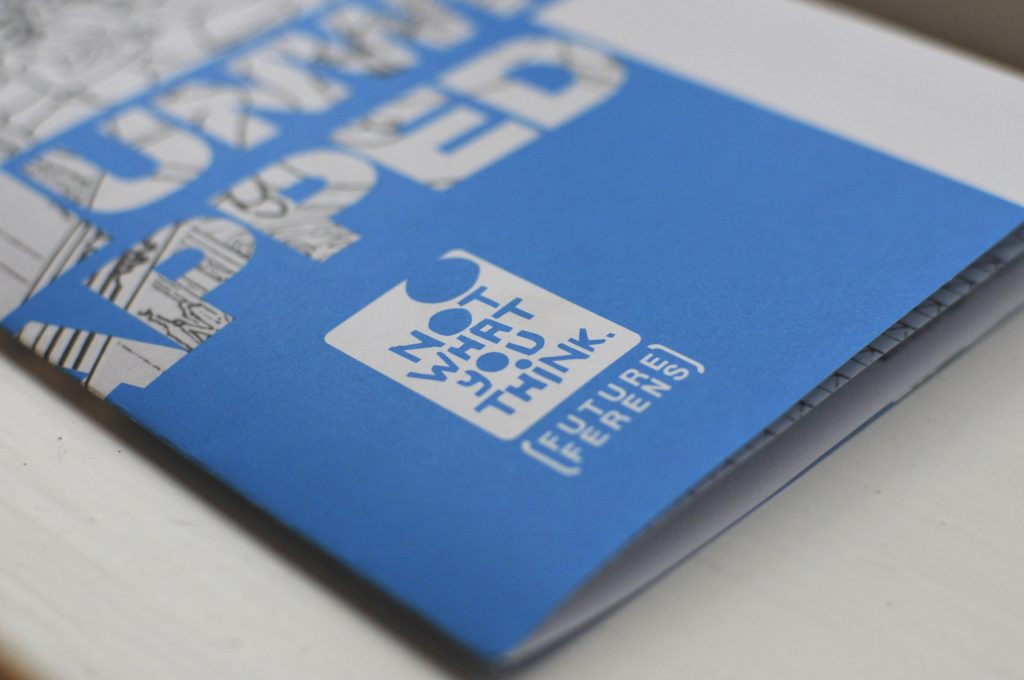 branding for 'future ferens', here applied to 'unwrapped' exhibition invite. [ferens art gallery]