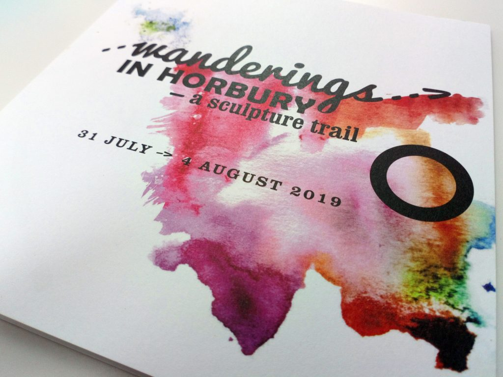 brand and leaflet-map design for sculpture trail as part of the yorkshire sculpture international fringe